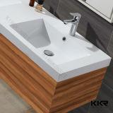 Bacino di vanità della stanza da bagno della resina della pietra di disegno moderno con il Governo 0713