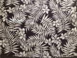 Напечатанное Silk Habotai в большом Patter листьев