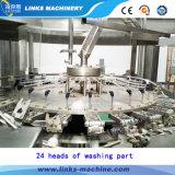 La pequeña fábrica termina a a la línea del embotellado del agua de la bebida de Z