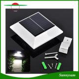 4 luz solar al aire libre de la lámpara PIR del LED de movimiento del sensor de la azotea del canal de la lámpara ligera solar solar cuadrada de la cerca