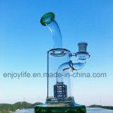 8 van de In het groot Kleine van het Glas van de Basis van de Beker van de Percolator Van het Booreiland duim Waterpijp van het Glas Rokende