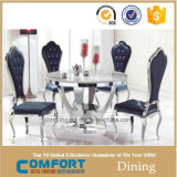 Modern Elegant Tempered Glass Tables Dining Room Furniture