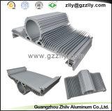 Disipador de calor de aluminio de la protuberancia del surtidor de Guangzhou del material de construcción