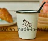 L'émail de forme d'entonnoir attaque la vaisselle de cuisine potable de cuvettes de l'eau d'émail de l'eau de café de cuvette… pour le cadeau
