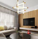Lâmpada creativa simples da sala de visitas da sala de jantar do quarto da personalidade do candelabro moderno do ferro