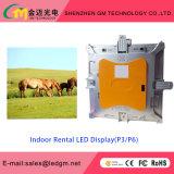 Alquiler de interior Pantalla LED P3 Alquiler pH2.5mm Pantalla LED de alta resolución de pantalla LED Die Casting Gabinete