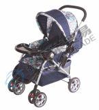 Poussette de bébé avec la roue avant de fixation et de freinage et de suspension