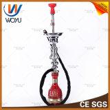 Solo rojo del tabaco de Shisha del agua del tubo del estilo de agua de los tubos del silicón de la cachimba del humo del tazón de fuente iraquí del silicón