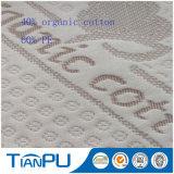Tela que hace tictac del algodón del poliester del colchón orgánico de la espuma para el colchón del látex