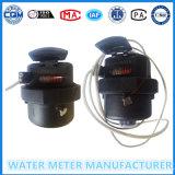 Plástico / latón Rotary contador del agua de pistón
