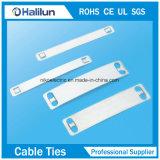 Placa superior de la etiqueta de plástico del cable del acero inoxidable de la resistencia a la corrosión