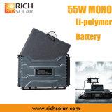 55W IP65를 가진 단청 휴대용 태양 에너지 시스템 재충전용 방수 충전기