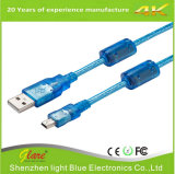 Plugue de ouro USB Am to Mini USB Cable