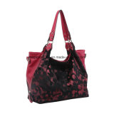 Grand sac à bandoulière en peau de fourrure rouge rouge (MBNO042046)