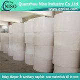 Träger-Gewebe für die Verpackung der Jumbol Rolle, gesundheitliche Serviette-Rohstoff, Baby-Windel-Rohstoffe mit SGS