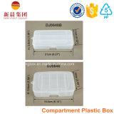 6つの垂直コンパートメントプラスチックの箱