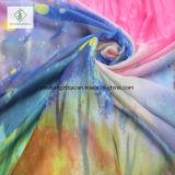 De uitgebreide Manier van de Sjaal van het Strand van de Gradiënt Kleur Afgedrukte Dame Silk Scarf
