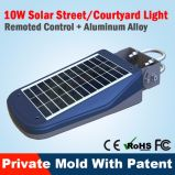 Réverbère solaire Integrated du détecteur de mouvement de qualité DEL avec Pôle