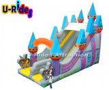 скольжение замока высоты 10m раздувное для малышей