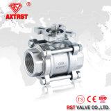 Нержавеющая сталь CF8 CF8m 3PC продела нитку шариковый клапан 1000 Wog (Q11F)