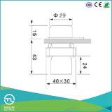 Anti interruttore di pulsante a schiocco d'insudiciamento di azione del metallo Xb2
