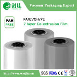PA / EVOH / PA / Tie / PE / PE / PE 7 Layer High Barrier Film pour l'emballage sous vide alimentaire