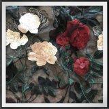 Шнурок шнурка вышивки сетки вышитый Rose