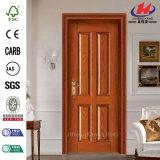 Дверь дверей панели Jhk-004p 4 деревянная прокатывает конструкцию двери Veneer Индии