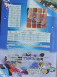 Cartão da cor para brilhos cosméticos da classe