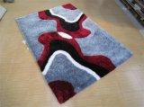 黒灰の粉の伸張のヤーンおよび絹が付いているカーペット