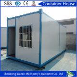 Casa modular pré-fabricada do recipiente do frame de aço e do painel de sanduíche com boa qualidade e baixo preço