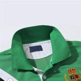 Van het Katoenen van de mens 's het Overhemd van het Polo van het Embleem Borduurwerk van de Douane