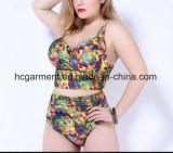 女性の大きいサイズの印刷のビキニ、とサイズのビキニの水泳の摩耗