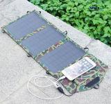 Carregador solar USB 10.8W com design plegável, saída USB e CC opcional (FSC-10.5B)