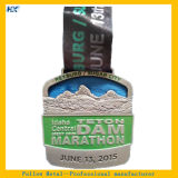 柔らかいエナメルの骨董品の銀メダルのマラソンメダルスポーツメダルHxm-1