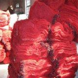 Полипропилена Drawstring Китая мешок сетки батиста красного L-