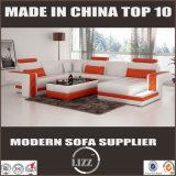 現代デザイン白いPUの革U字型ソファー