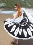 Toalla de playa redonda impresa algodón de Microfiber del poliester
