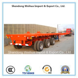 Semi reboque do caminhão da tração e de Stype extraível Lowbed