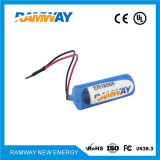 Bateria de lítio estável da tensão de funcionamento para os equipamentos do estacionamento (ER18505)
