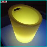 Dispositivo di raffreddamento chiaro del contenitore di ghiaccio dei centri della Tabella LED di cerimonia nuziale con il gancio