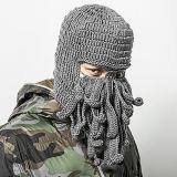Шлем зимы уникально маски восьминога Handmade связанный
