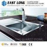 Superfície Polished da pedra de quartzo para Worktops projetado