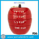 Rote Apple-Form-Frucht-Fantasie-Neuheit-messende Cup
