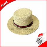 Chapéu de papel redondo de Sun da palha