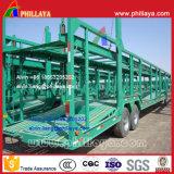 2-Axle-4-Wheel tipo de esqueleto do carro do transporte reboque do caminhão Semi (8 carros)