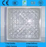 Bloco de vidro modelado azul/verde/paralela desobstruída do cristal/vidro do tijolo para a decoração (G-B)