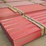 Hojas acanaladas coloreadas del material para techos en venta