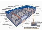 Il magazzino della struttura d'acciaio del rivestimento della parete del pannello a sandwich/ha prefabbricato l'edilizia della struttura della struttura d'acciaio House/Steel