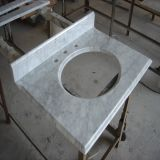 Cheap Price White Carrara Marble Bathroom Vanity Top/Slab